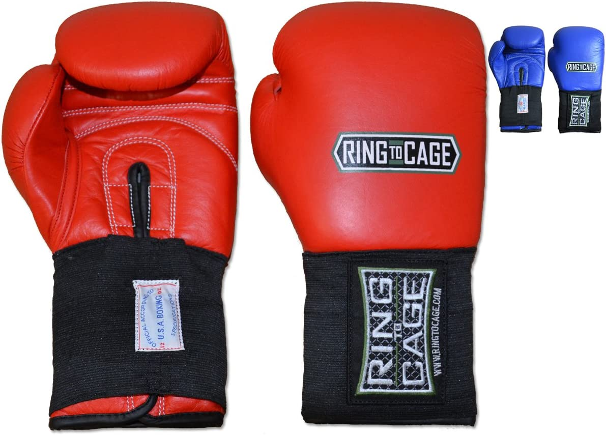 Amber Fight Gear Amateur Competition Boxing Gloves USA Boxing Approved