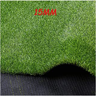 XEWNEG Artificial Grass 15mm Encryption Simulation Lawn, Outdoor Carpet Plastic Fake Lawn Balcony Artificial Straw Mat Gre...