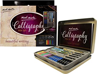 MONT MARTE Calligraphy Pen Set - 33 pieces - Perfect for beginners - Includes: 4x calligraphy pen, 5x calligraphy nibs and much more - Great introduction to Calligraphy and Handlettering