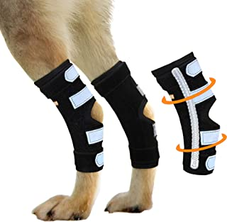 NeoAlly Dog Braces for Back Legs Super Supportive with Dual Metal Spring Inserts to Stabilize Dog Hind Legs, Help Dogs with Injuries, Sprains, Arthritis, ACL (Pair)
