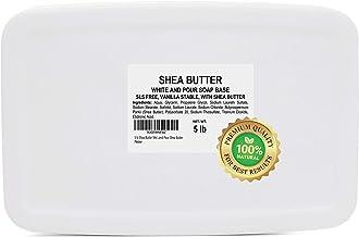 5 lb Shea Butter Soap Base for Soap Making Melt and Pour Shea Butter Glycerin Soap Base for Soap Making All Natural White ...