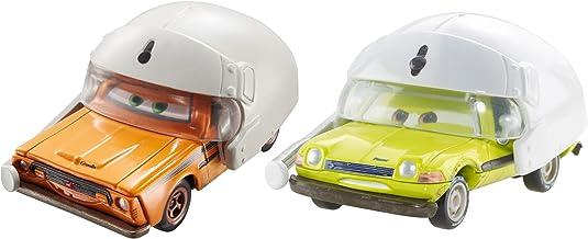 Mattel Disney DHL21 Metal vehículo de Juguete - Vehículos de Juguete, Vehicle Set, Metal, Cars, Grem with Helmet & Acer with Helmet, 3 año(s)