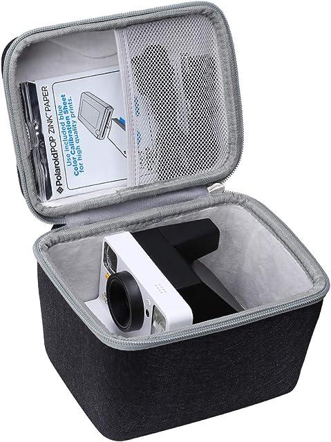 Aproca Duro Viajes Funda Bolso Caso para Polaroid Originals 9002/9003 / 9008/9009 / 9016/9017 One Step 2 Viewfinder i-Type - Cámara Instantáneas (Dark Blue with Half Mesh Pocket)