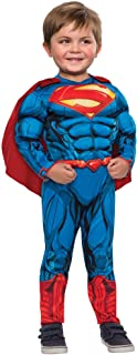 Superman Costume Muscle Chest Jumpsuit with Cape. 2T Toddler