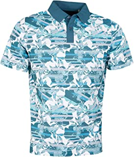 Callaway Golf Mens 2021 Structural Printed Floral Wicking Stretch Polo Shirt