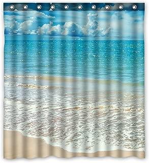 ZHANZZK Beach Ocean Waves California Paradise Waterproof Bathroom Shower Curtain 60x72 Inches