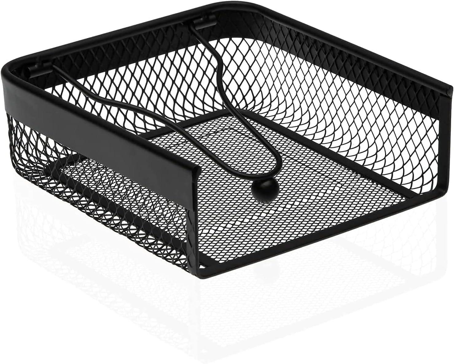 MGE - Servilletero Cuadrado con Peso - Portaservilletas de Metal - Soporte de Servilletas - Negro