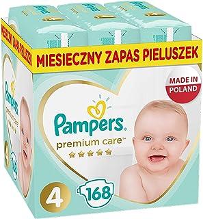 Pampers Premium Care, Rozmiar 4, 168 Pieluszki, Najdelikatniejszy Komfort I Najlepsza Ochrona Skóry Oferowane Przez Pamper...
