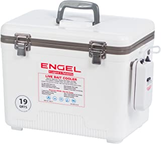 Engel (エンゲル)Coolers Live Bait Cooler/Dry Box with Air Pump, White