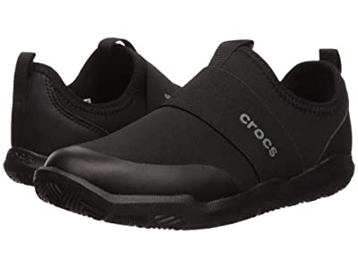 Crocs Kids Swiftwater Easy-On Heather Shoe (Toddler/Little Kid) (Black/Black) Kid