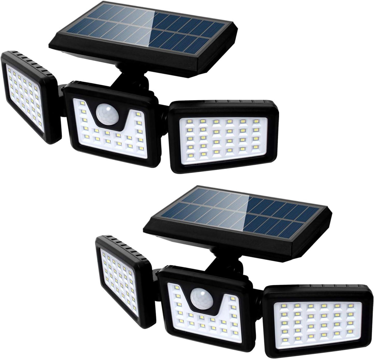 人気ブレゼント Solar Lights Outdoor Motion 店内全品対象 Adjusta Sensor 3 Heads