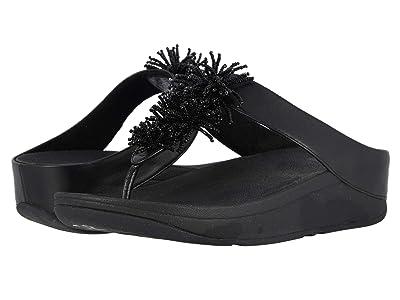 FitFlop Fino Bead Pom Pom (Black/Black) Women