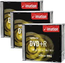Imation 16x DVD+R LightScribe Printable Blank Media, 4.7GB/120min - 30 Pack