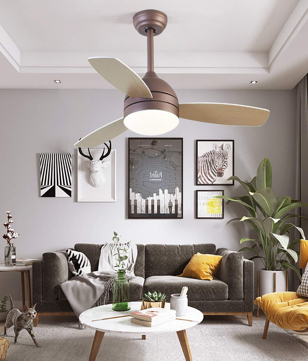 XGBIN Lámpara de Techo con Ventilador eléctrico, Nordic Minimalist ...