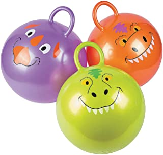 Fun Express - Dinosaur Happy Hoppers - Toys - Active Play - Recess & PE Play - 6 Pieces