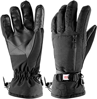 CampFENSE Ski Gloves Winter, Warm Insulation Outdoor Windproof Waterproof, Snow Gloves Fits Skiing, Snowboarding