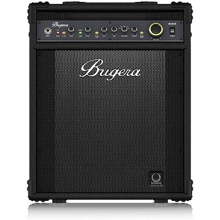 """BUGERA BXD15 1000-Watt 2-Channel Bass Amplifier with 15"""" Turbosound Speaker FBQ Spectrum Analyzer Black"""