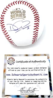 David Ross Chicago Cubs Signed Autograph Official World Series MLB Baseball Schwartz Sports Authentic Certified