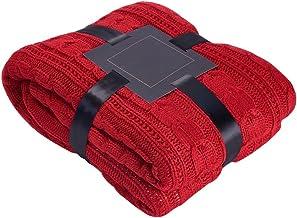 لحاف فاخر من كمفوربيد مع بطانة من فرو الشيربا باللون الأحمر مقاس 132.7 سم × 150.8 سم