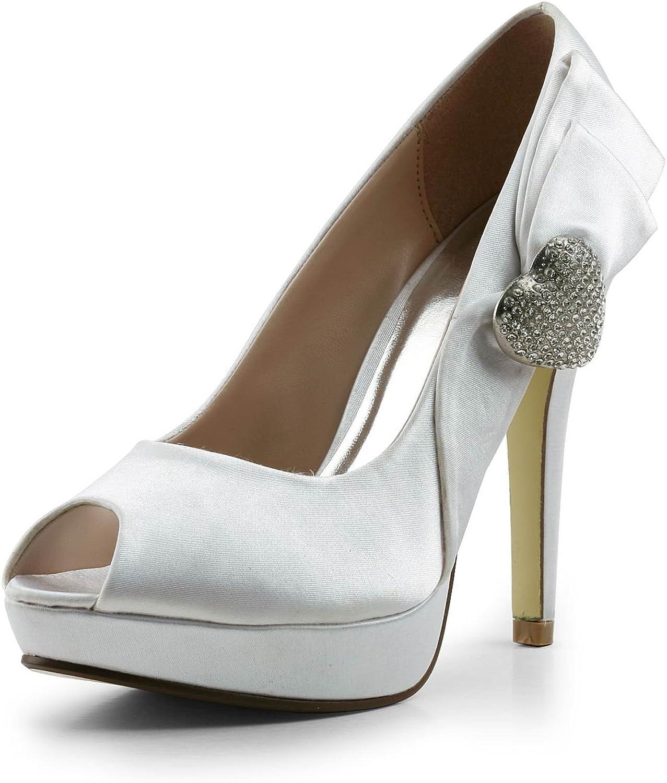 TDA TH12118 Womens Stiletto High Heel PU Leather Evening Parting Bridal Wedding Dress Platform Sandals