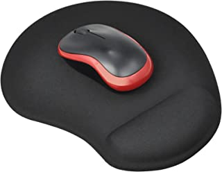 TRIXES Black Mouse Pad Mat 'Small' with Comfort Cushion Support