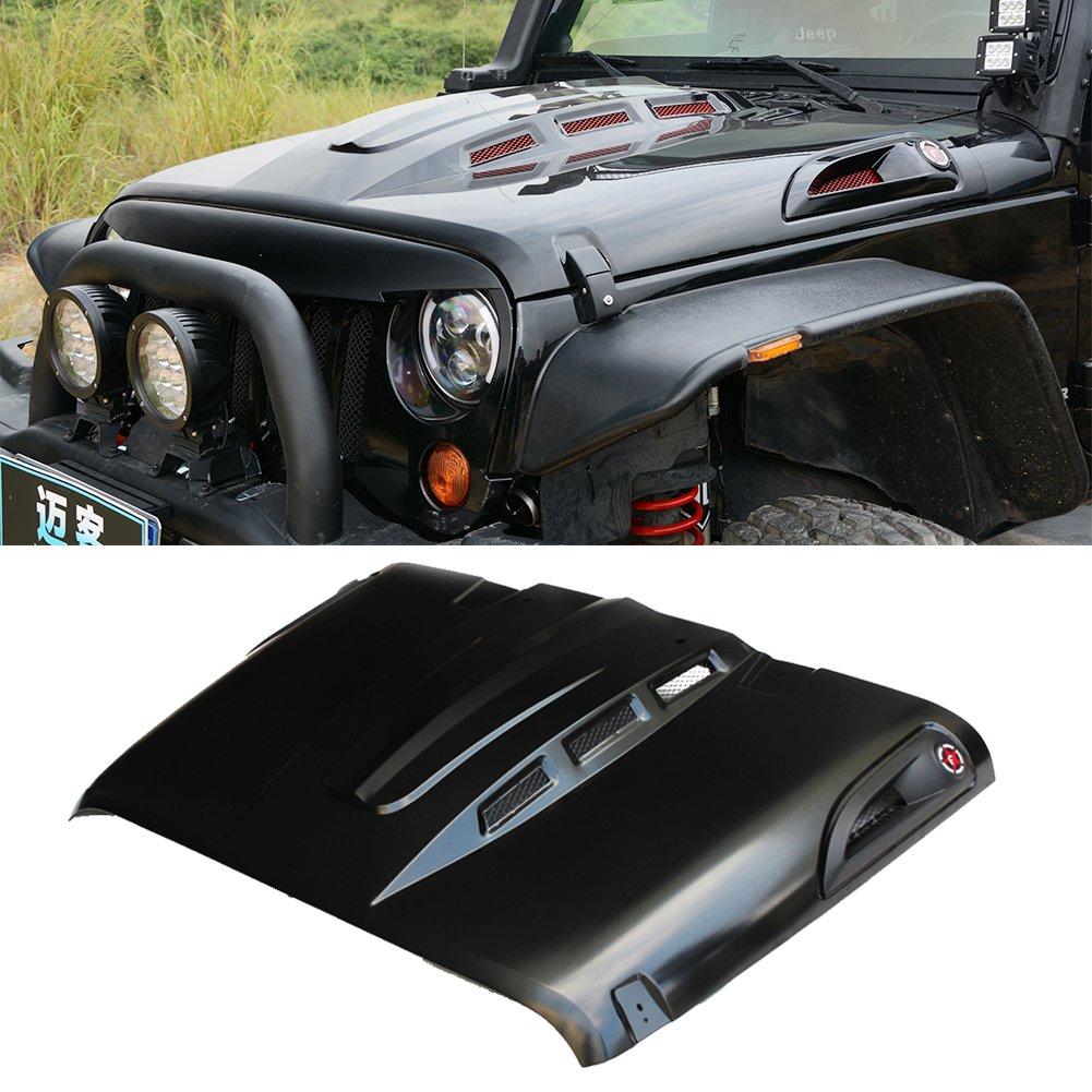 jeep wrangler hood accessories amazon com 2006 Ford Mustang Hood
