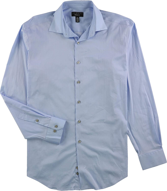 Alfani Mens Alfa Tech Button Up Dress Shirt