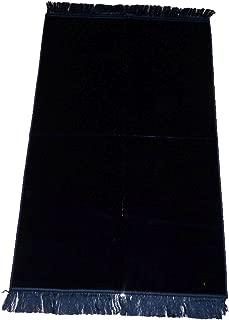 Aydin Turkish Prayer Rug Luxery Islamic Muslim Velvet Sajadah Sajjadah Carpet No Designs No Pattern Dark Blue