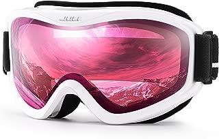 Juli Ski Goggles,Winter Snow Sports Snowboard Goggles with Anti-Fog UV Protection Double..