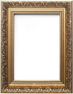 Paintings Frames Ornate Swept Antique Style French Baroque Style Picture Frame/Photo Frame/Poster Frame with A High Clarity Styrene Shatterproof Perspex Sheet (50.8 x 60.96cm) 20