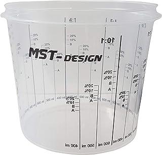 50 x Lackmischbecher 1400 ml (1,4 L) I Einwegmischbecher I Messbecher I Mischbecher von MST Design I Anmischen von Farbe und Lack I Becher mit Skala I Lackieren Lack Lackierzubehör