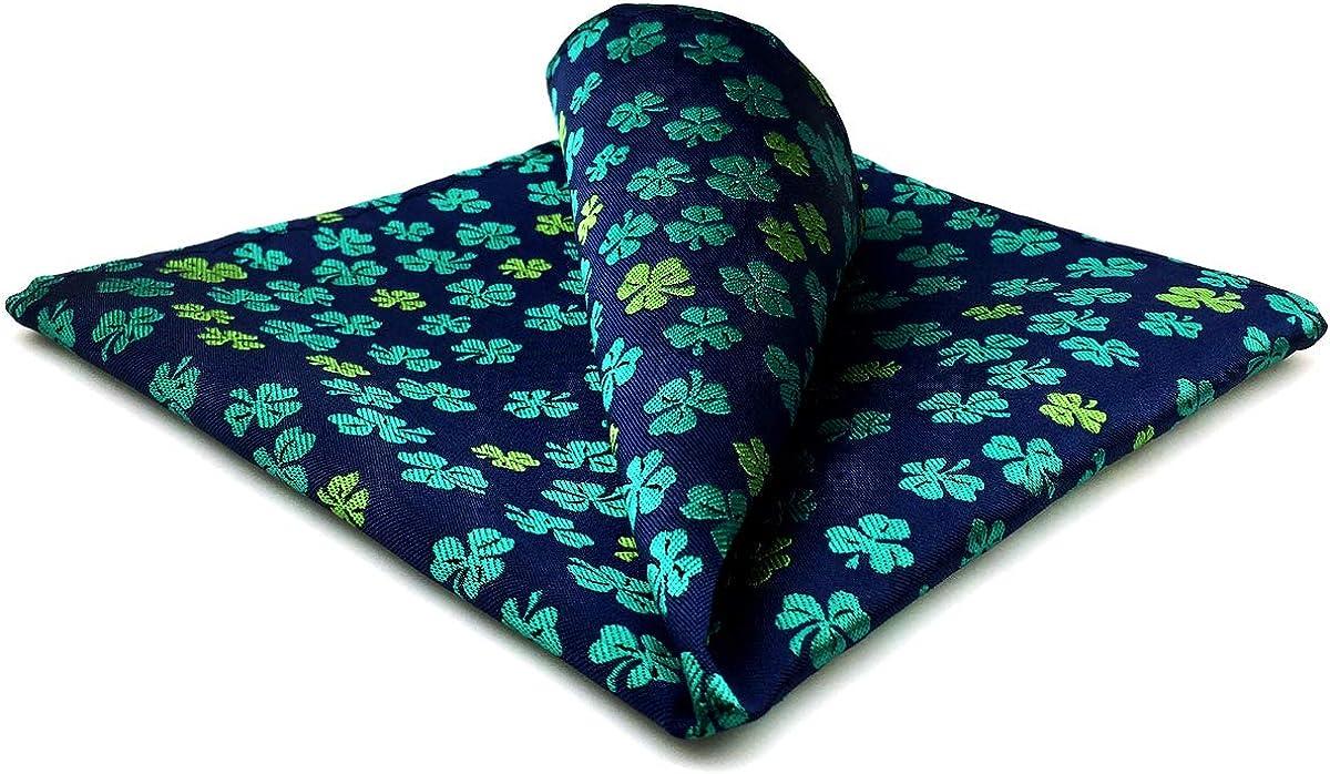 S&W SHLAX&WING Men's Ties Neckties Gift Set Dark Blue Green Floral