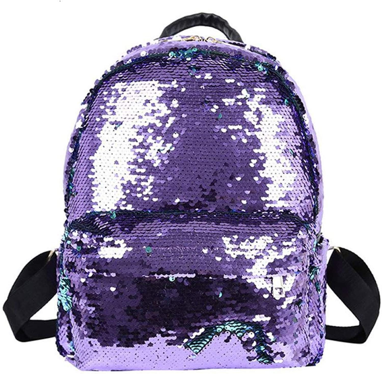 HUYANNABAO Fashion Women Bag Sequins Backpack colorful Teenager Girls Travel Bags Large Capacity Princess Backpacks