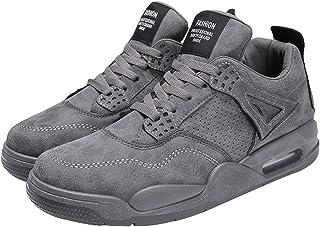 QKFON Mens tinta unita scarpe da ginnastica leggere traspirante atletica corsa scarpe da passeggio