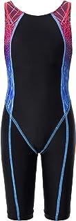 JerrisApparel Girls One Piece Swimsuit Athletic Swimwear Sports Bathing Suit