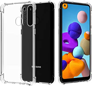 Migeec Compatible with Samsung Galaxy A21 Clear Case Shockproof Full Protection Phone Cases 6.5 inch