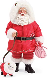Department 56 Possible Dreams Santa and His Pets All Warm and Fuzzy Figurine Set, 10.5 Inch, Multicolor