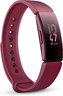Fitbit Inspire Health & Fitness Tracker with Auto-Exercise Recognition, 5 Day Battery, Sleep & Swim Tracking, Sangria/Sangria