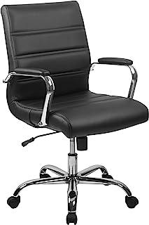 Flash Furniture Mid-Back Black LeatherSoft Executive...