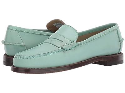 Sebago Classic Dan Waxy (Green Mint) Women
