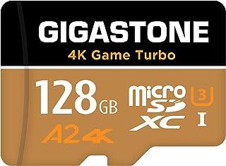【5年データ回復保証】【Nintendo Switch対応】 Gigastone マイクロSDカード 128GB Micro SD Card, 4K Game Turbo, A2規格 100/50 MB/s, Full HD & 4K UHD撮...