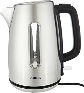 Philips Viva Collection Kettle HD9357/12, Water level indicator, Cordless 360°, Complete stainless steel, Flat heating ele...