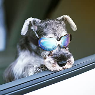 Enjoying Dog Sunglasses - Small Dog Goggles UV Protection Windproof Adjustable Goggles for Doggy Puppy Cat