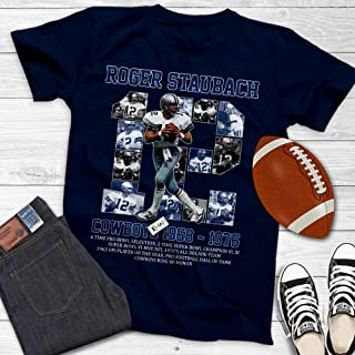 Roger-Staubach Football Captain Dallas America Quarterback Customized Handmade T-Shirt Hoodie/Long Sleeve/Tank Top/Sweatshirt