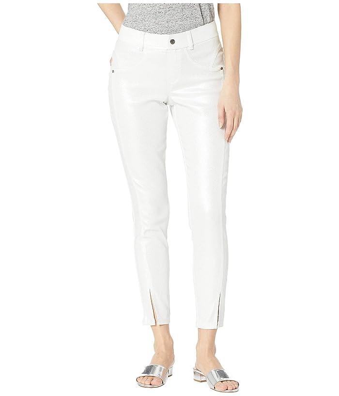 HUE Pearlized Denim Skimmer Leggings (White) Women