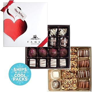 Happy Birthday Chocolate Gift Box - Gourmet Chocolates with Gift Ribbon, (31Pc)