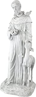 Best Design Toscano KY1336 Francis of Assisi, Patron Saint of Animals Religious Garden Decor Statue, 26 inch, 37 Inch, Antique Stone Review