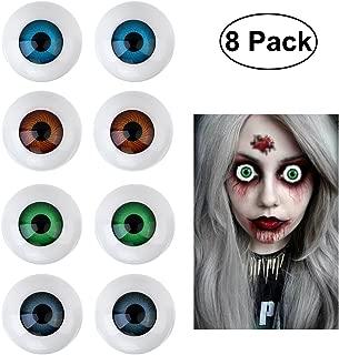 BESTOYARD 8 Hollow Eyeball Mask Halloween Horror Props Costume Plastic Eyeballs for Halloween