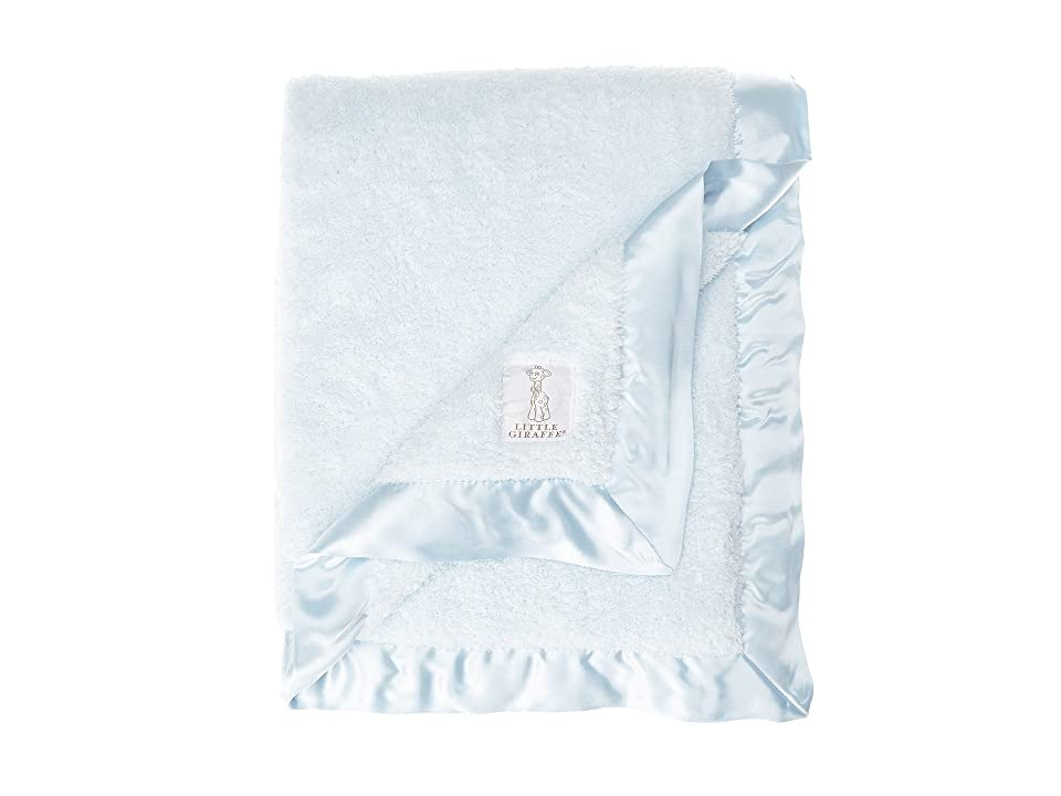 Little Giraffe Chenille Baby Blanket (Blue) Sheets Bedding