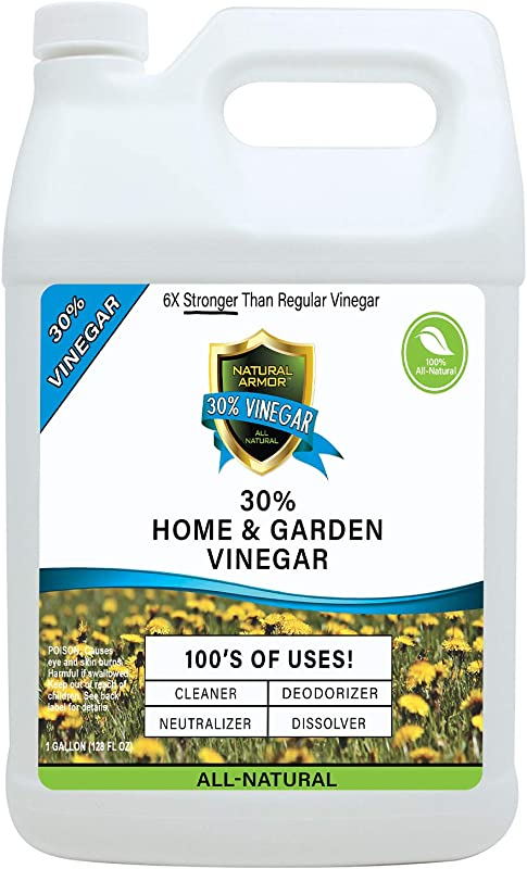 30 Vinegar Pure Natural Safe Industrial Strength Concentrate For Home Garden Literally Hundreds Of Other Uses 6X Stronger Than Regular Vinegar 128 OZ Gallon Refill